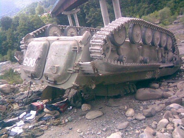 Первый прямой бой вторгнувшихся в Грузию российских оккупантов с грузинскими военными