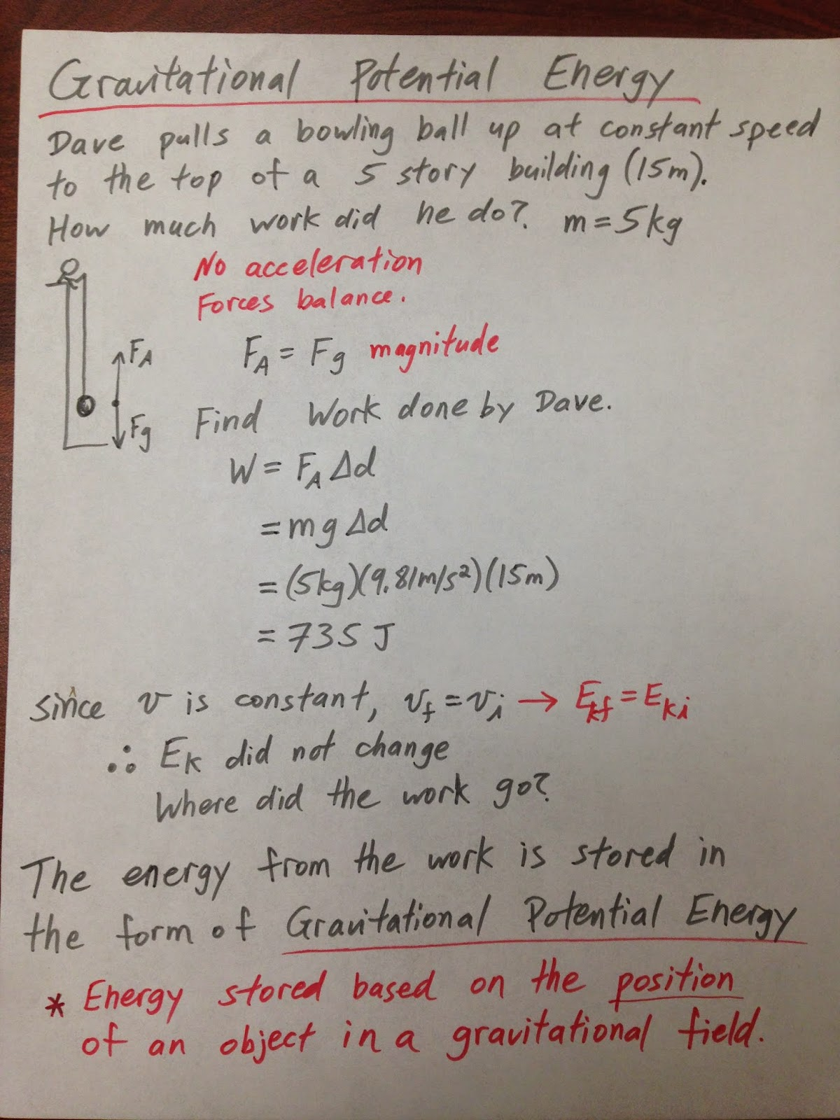 Grade 11 Physics Nov 6 Gravitational Potential Energy