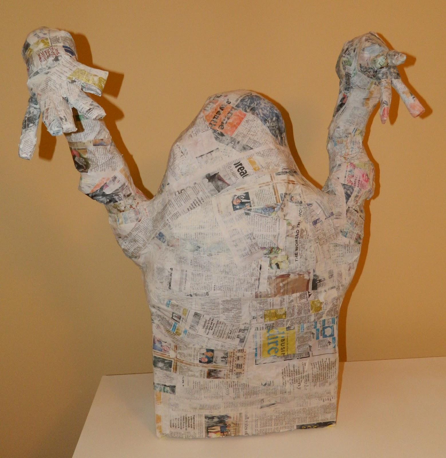 Shop Towels Paper Mache: What Happens At Grandma's: Paper Mache Monster Instructions