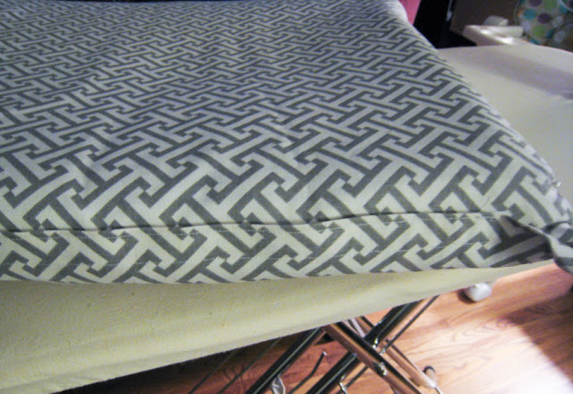 Velcro on seams to close up cushion cover
