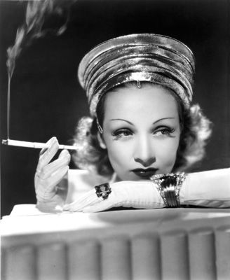 Marlene Dietrich Smoking