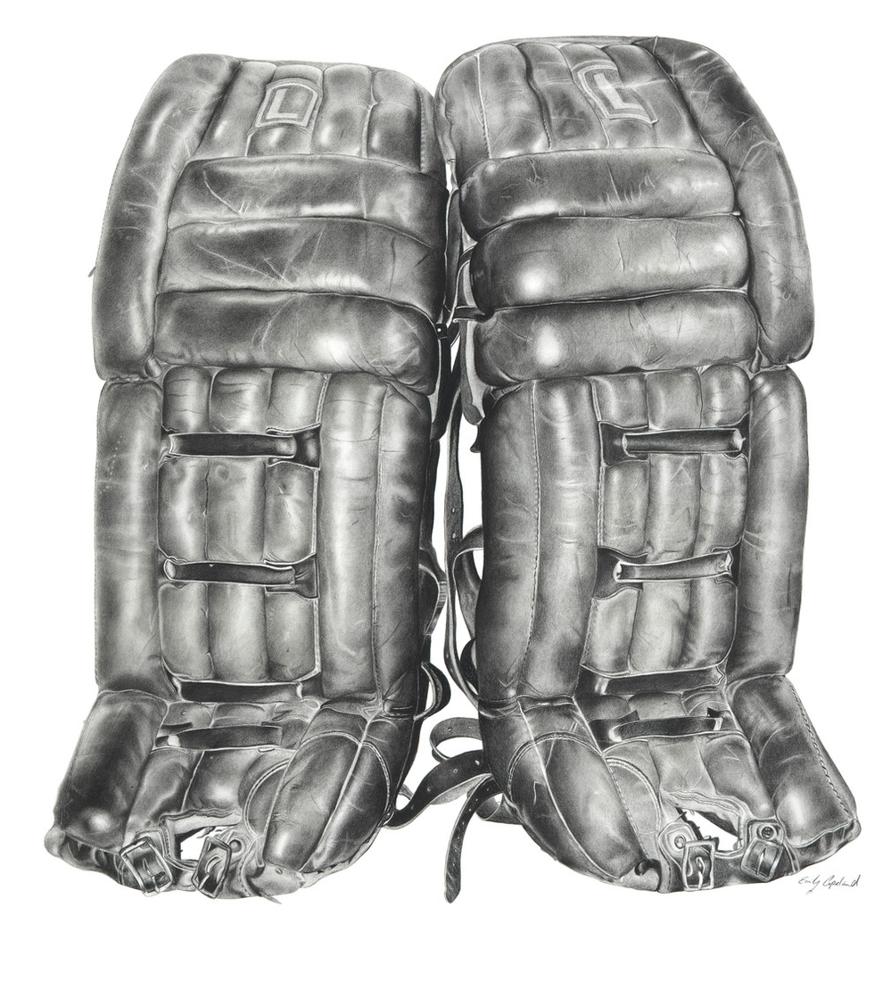 05-Ice-Hokey-Goalie-Pads-Emily-Copeland-Vintage-and-Retro-Objects-in-Photo-Realistic-Drawings-www-designstack-co