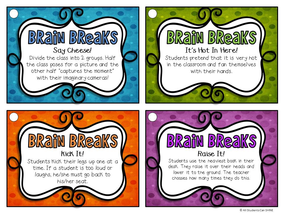 brain break clipart - Google Search | Whole brain teaching, Brain breaks,  Teaching classroom