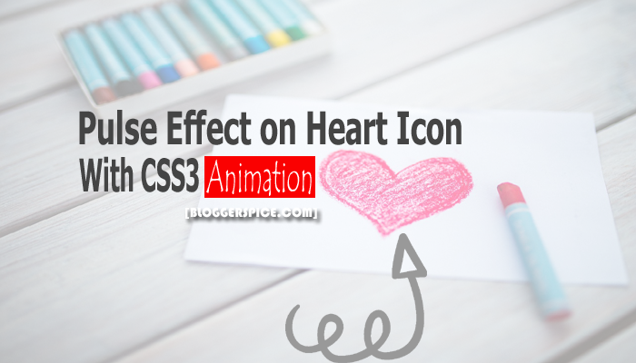 Add Pulse effect on Font Awesome Heart Icon with CSS3 Animation?