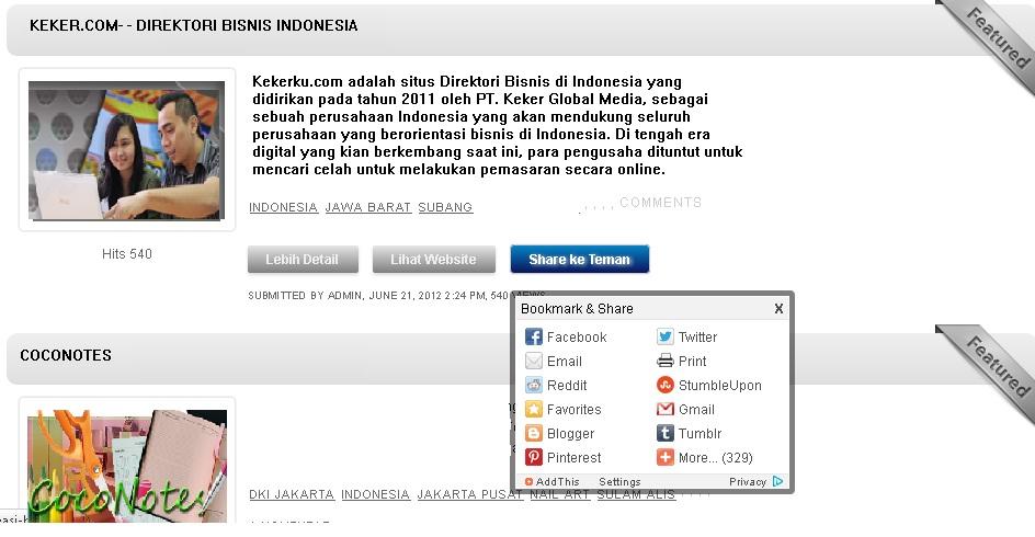 CocoNotes: Promosi Usaha Mudah melalui Direktori Bisnis Indonesia