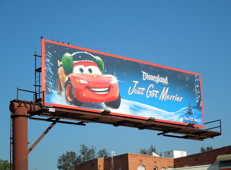 Disneyland Just Got Merrier Lightning McQueen Cars billboard