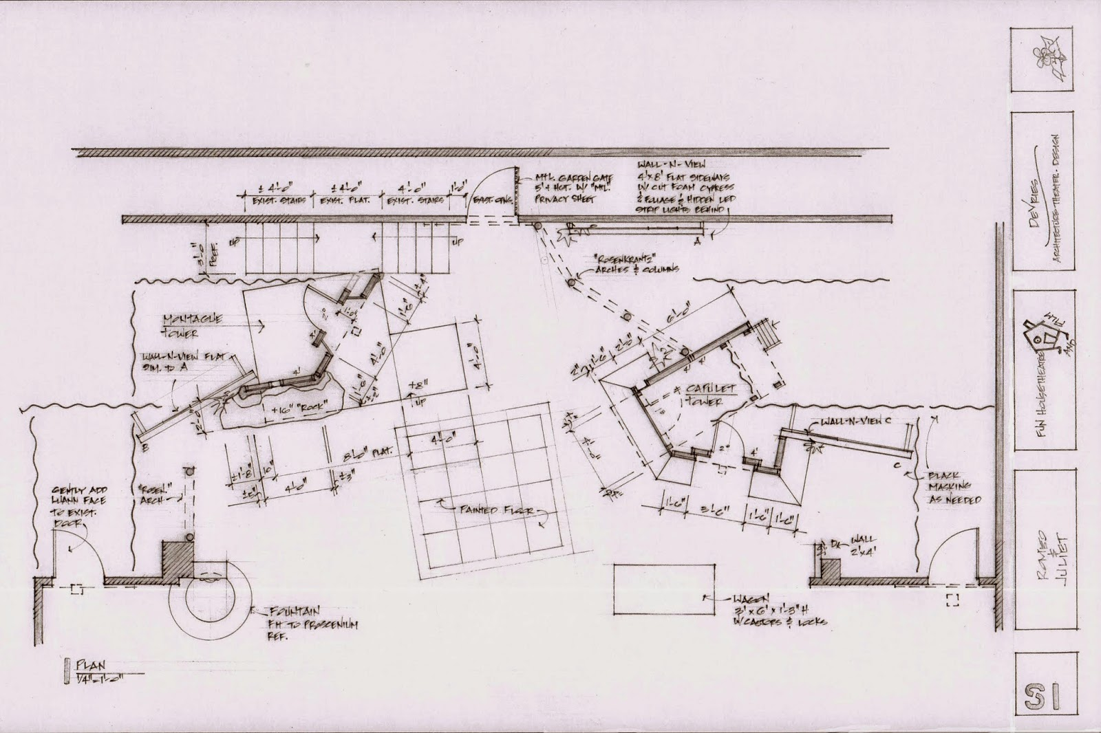 small resolution of romeo and juliet for fun house theatre and film set design by clare floyd devries
