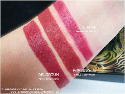 ARABESQUE COMPARAZIONI sfilata delirium diva crime goldust collection Nabla cosmetics
