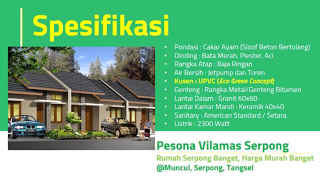 Spesifikasi Rumah -Rumah Dijual Di Tangsel : Pesona Vilamas Serpong