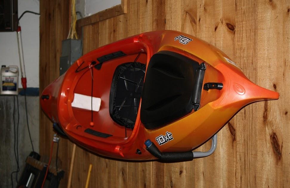 Kayak Wall Hanger >> Kayak The Merrimack: Do It Yourself Kayak Rack