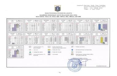 Kepdisdik Nomor 531 Tahun 2021 Tentang Kalender Pendidikan Tahun Pelajaran 2021/2022