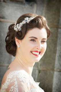 Vintage wedding hair, hairstyle, wedding, wedding dress, bridal hairstyle