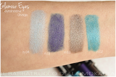 swatches Glamour eyes eyeshadow  -  DIVAGE  - StayGlam Collection Spring/Summer 2016