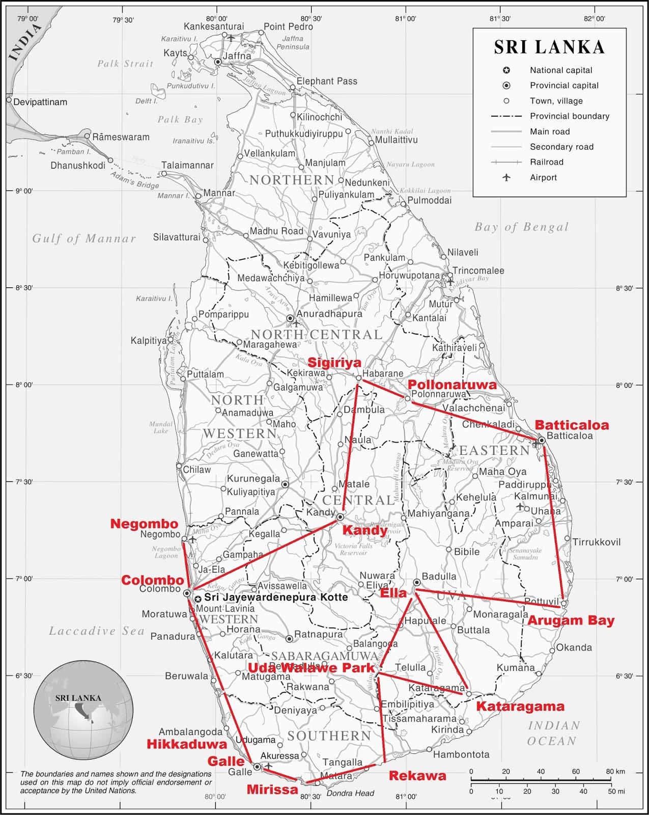 Alex Macht Pause Sri Lanka Meine Grobe Reiseroute