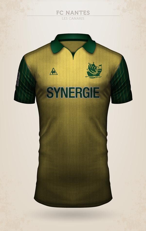 Projet de design du maillot du FC Nantes avec Le Coq Sportif