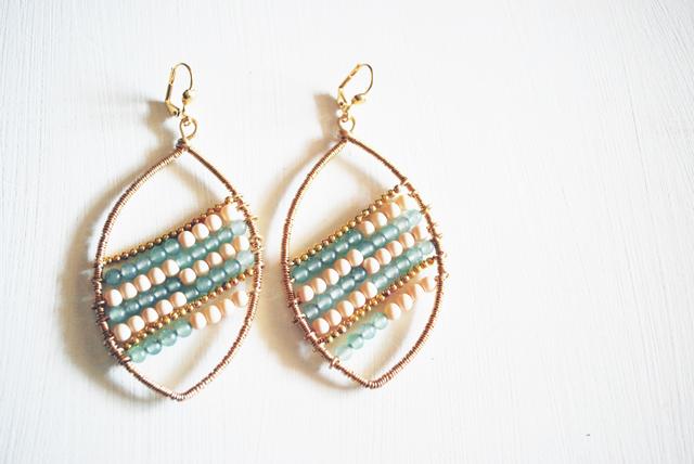 beads and wires orecchino primavera