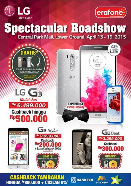 Spectacular Roadshow LG di Central Park Mall