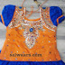 Blue Light Orange Lehenga