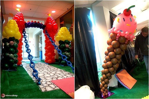 Interior Designs Using Colorful Balloons 3
