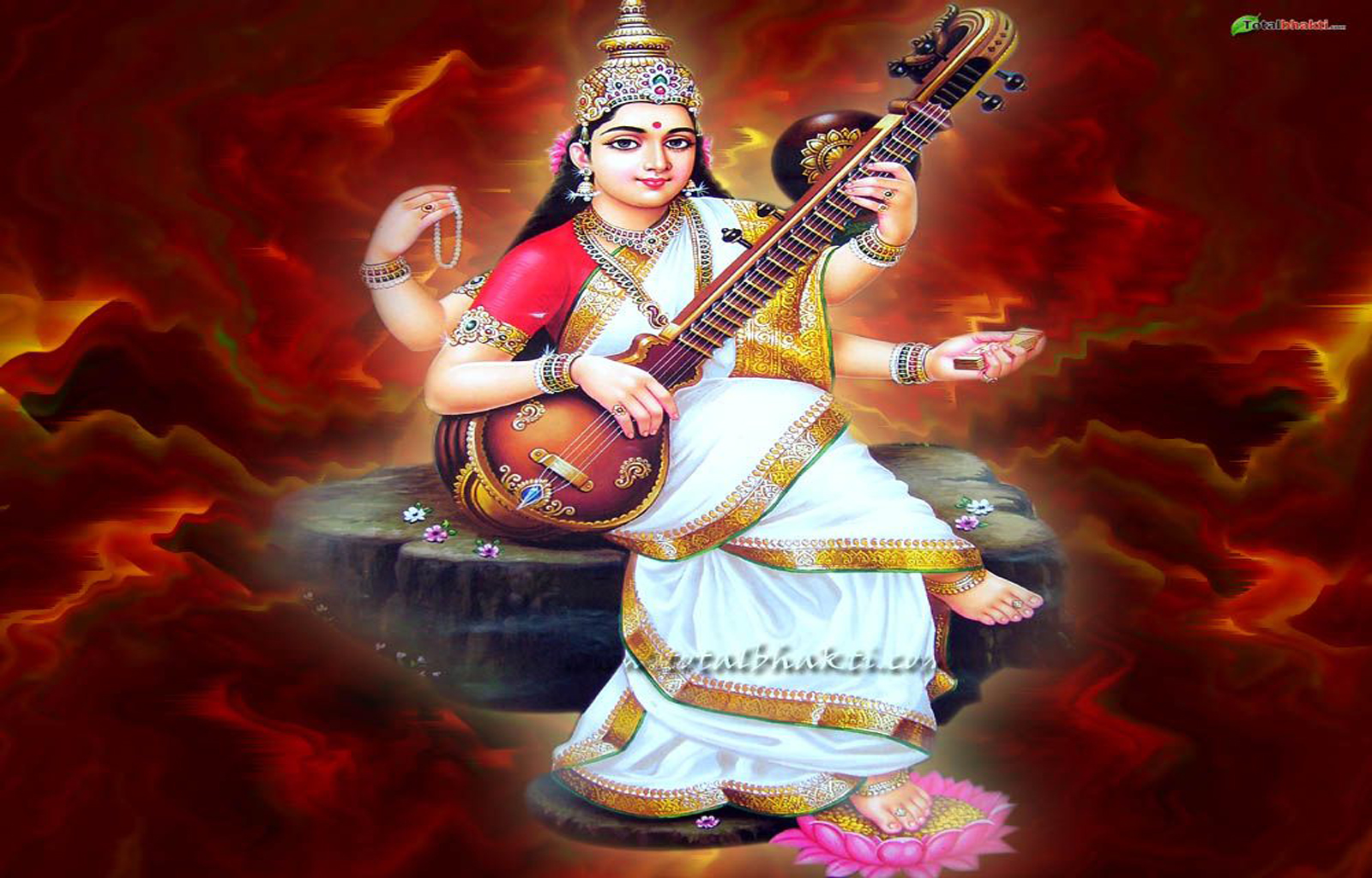 picture collection: Hindu goddess Saraswati maa wallpapers