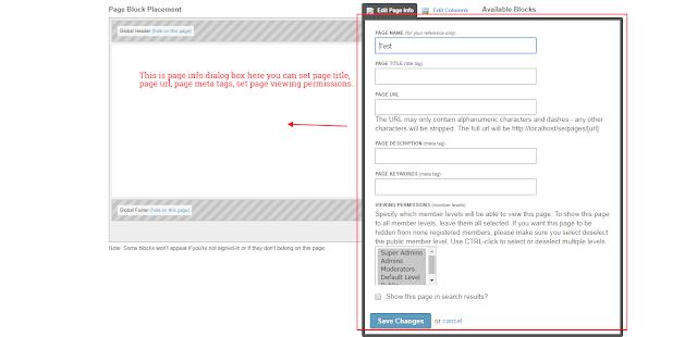 Page Settings Social Engine