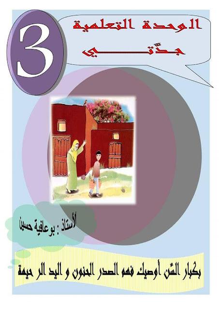 مذكرات المقطع الاول الاسبوع الثالث مادة اللغة العربية السنة الرابعة ابتدائي الجيل الثاني