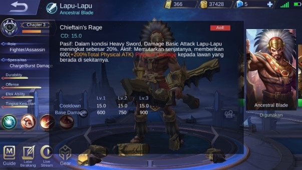 Skill 2 Lapu-Lapu Dalam Mode Heavy Sword