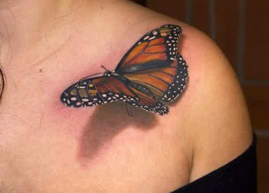 3d butterfly tattoos women