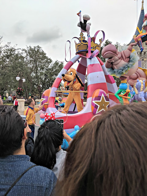 Celebrating my Birthday at the Magic Kingdom - Magic Kingdom Parade - Pluto