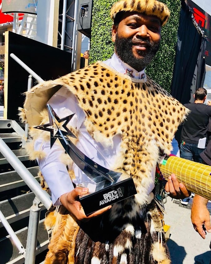 "#BETAwards: South Africa's Sjava wins ""Viewer's Choice: Best International Act"" at #BETAwards2018"