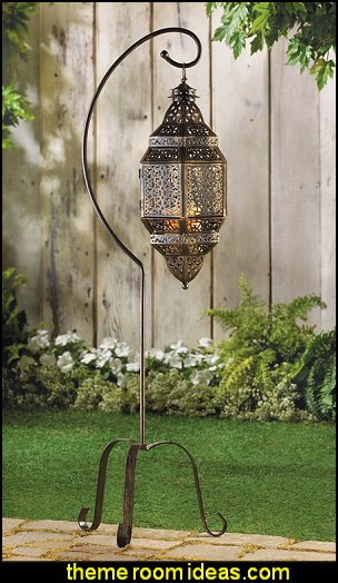 Moroccan Iron Lantern  Moroccan decorating ideas - Moroccan decor - Moroccan furniture - decorating Moroccan style - Moroccan themed bedroom decorating ideas - Exotic theme decorating - Sultans Palace - harem style bedrooms Arabian nights Moroccan bedroom furniture - moroccan wall decoration ideas