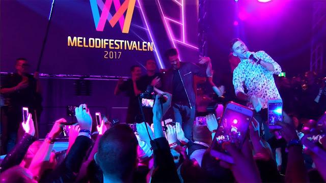 Robin Bengtsson tras ganar el Melodifestivalen (Photo: RTVE.es)