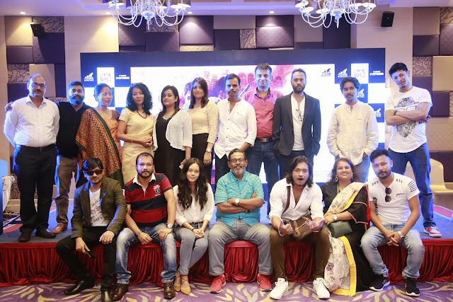 Film Critic Murtaza Ali Khan with the star cast of III Smoking Barrels in Guwahati, Assam