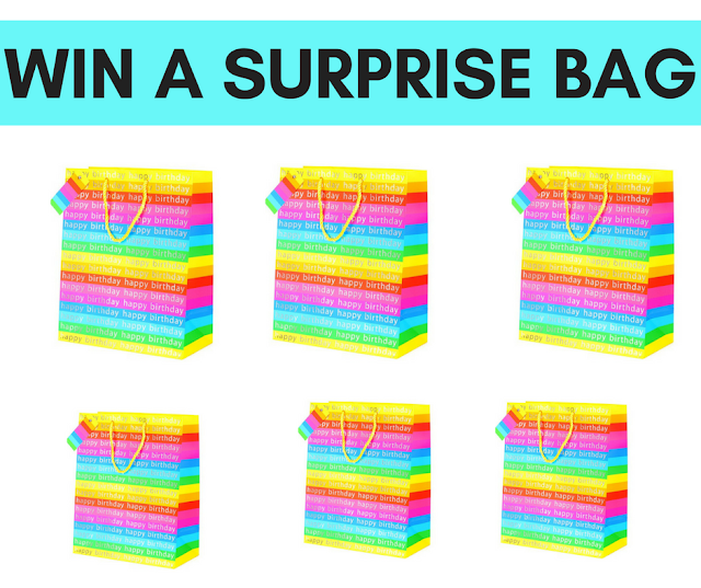 WIN 1 of 9 Birthday Mystery Bags!