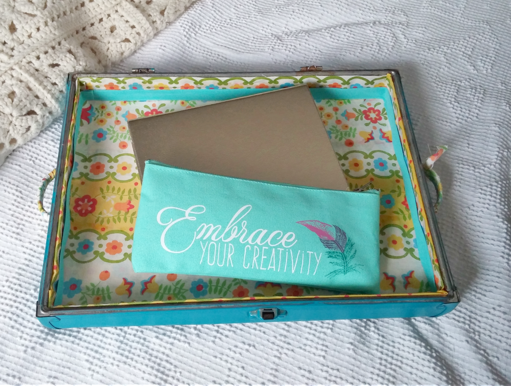 make a serving tray from a suitcase