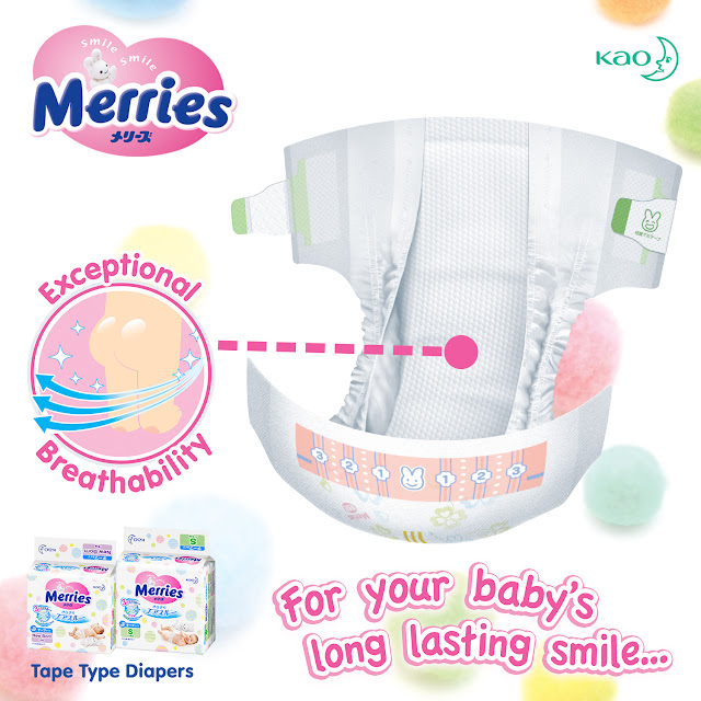 Merries Tape Diaper Exceptional Breathability