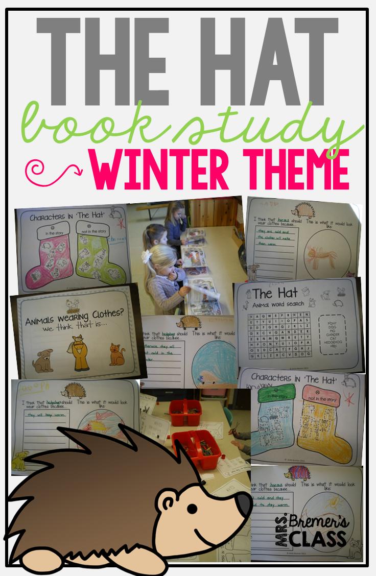 The Hat book study companion literacy activities for Kindergarten