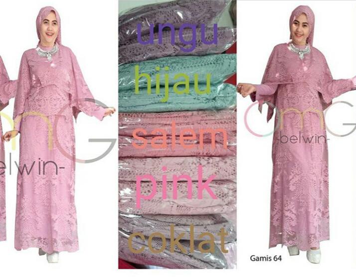 OMG Baju Muslim Gamis Full Brokat Edisi Lebaran