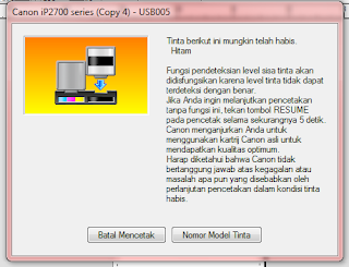 Cara Mengatasi Error blink 13 x printer Canon ip 2770