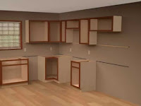 how to put in kitchen cabinets