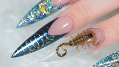 strange nail design