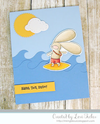 Hang Ten, Dude! card-designed by Lori Tecler/Inking Aloud-stamps and dies from The Cat's Pajamas