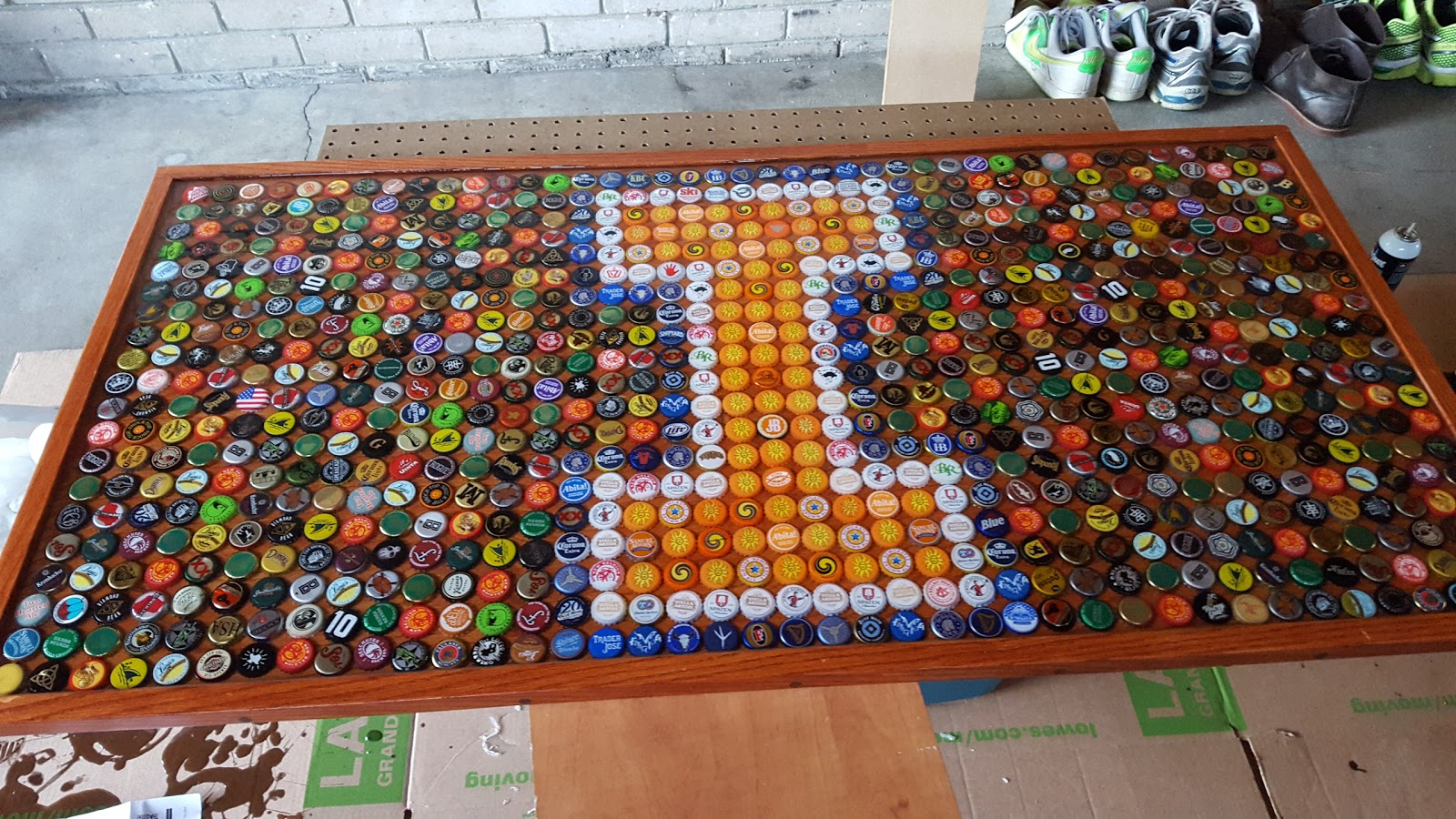 Milbot Bottle Cap Table