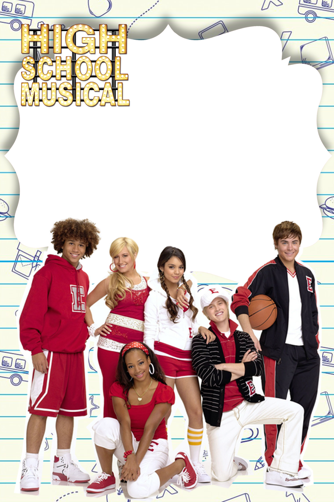 High School Musical Party Free Printable Kit.