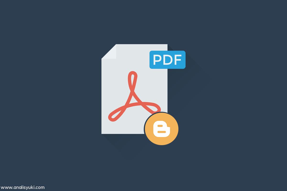Cara Menampilkan File Pdf atau Word di Postingan Blogger