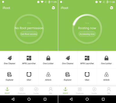 iRoot Rooting Android Process