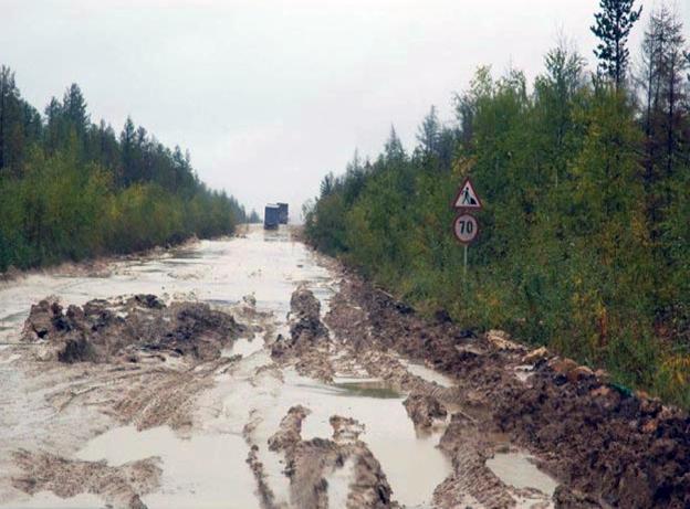 Siberian Road to Yakutsk (Russia)