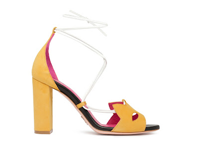 Oscar Tiye Spring Summer 2016 Kitty Block Heel Color Block