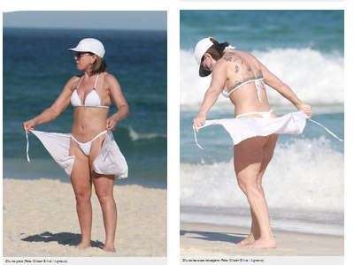 Fabulosa Zilu Godoi  a sus 54 años en playa brasil