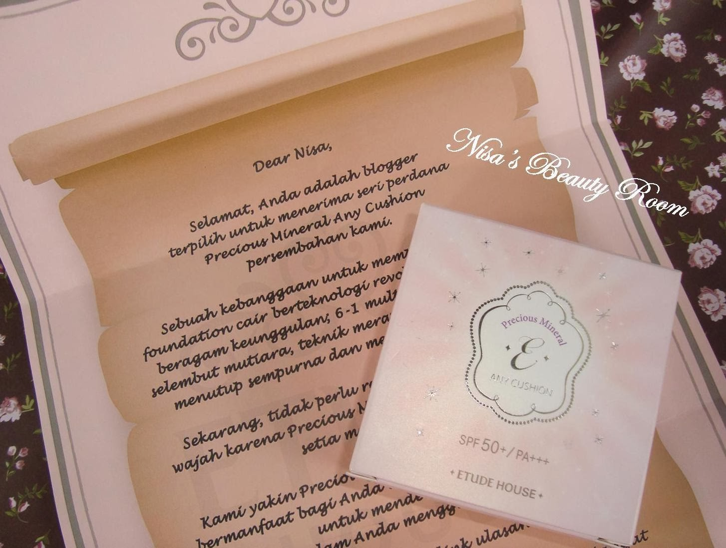 Review Etude House Precious Mineral Any Cushion SPF 50+/PA ++
